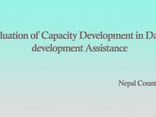 Evaluation of Capacity Development in Danish Development Assistance