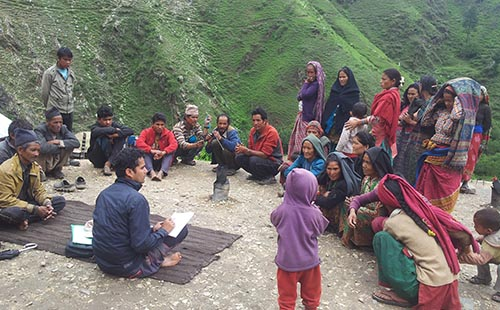 Focus Group Discussion (FGD) during field visit of MEL Unit