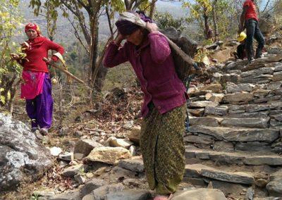 A woman carrying stones-Unnat Goreto Projectl.