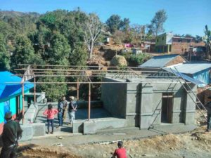 Ongoing construction of women community center