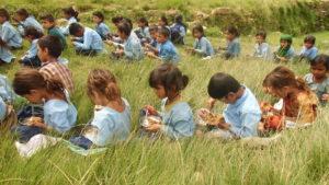 Cash Based School Feeding Programme School children enjoing mid day meal in Baitadi August 2014