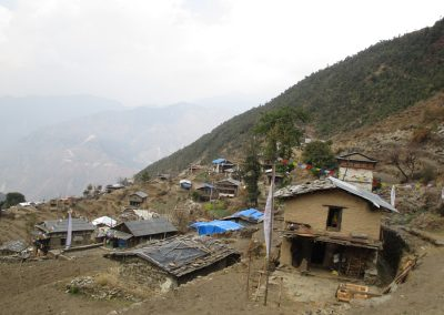 View of the Sherpa village at Snidhupalchowk, Golche.