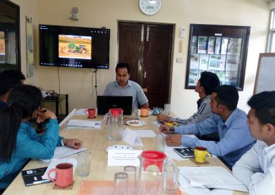 Training to field researchers for effective data collection method