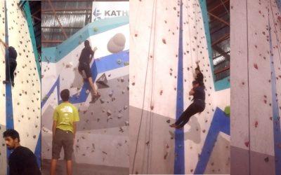 Wall Climbing in Kathmandu Sports Climbing Centre, Thamel