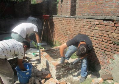 Contruction of Pizza Oven With lime Technology