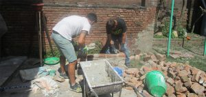 Contruction of Pizza Oven With lime Technology on progress