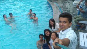 Selfi time swiming pool during retreat 2016