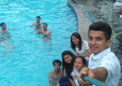 Selfi time - swiming pool- during retreat 2016