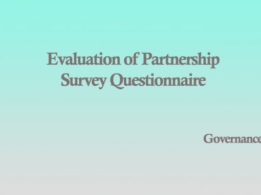 Evaluation of Partnership  Survey Questionnaire