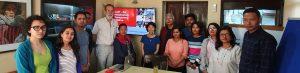 CoST Team meet up at scott wilson nepal banner