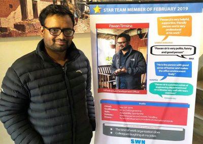 Star team member, February-2019 -Pawan Timsina