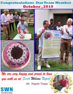 Star team member October 2019 Rajesh Thapa