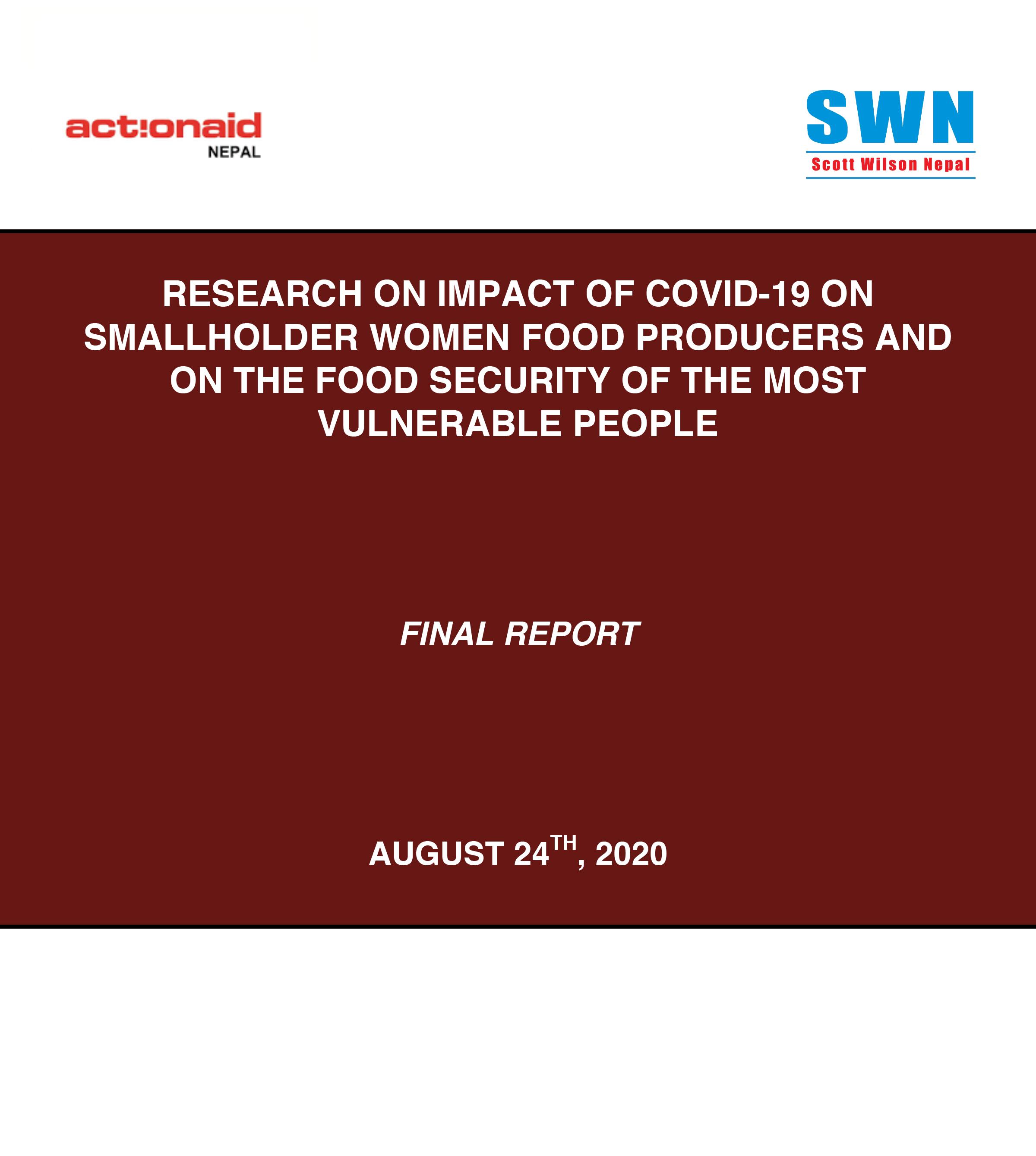 Final Report Impact on Women Smallholder 24Aug2020 1